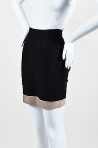 Herv Leger Herve Taupe Mini Skirt Black