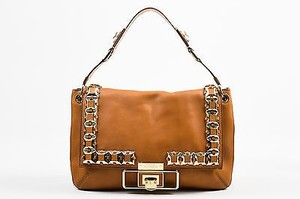Anya Hindmarch Tan Gold Tone Shoulder Bag