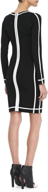 Parker Stripe Contour Contrast Bodycon Longsleeve Contrast Dress
