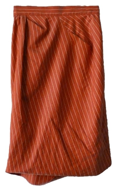 Vivienne Westwood Pencil Pinstripe Silky Skirt Red