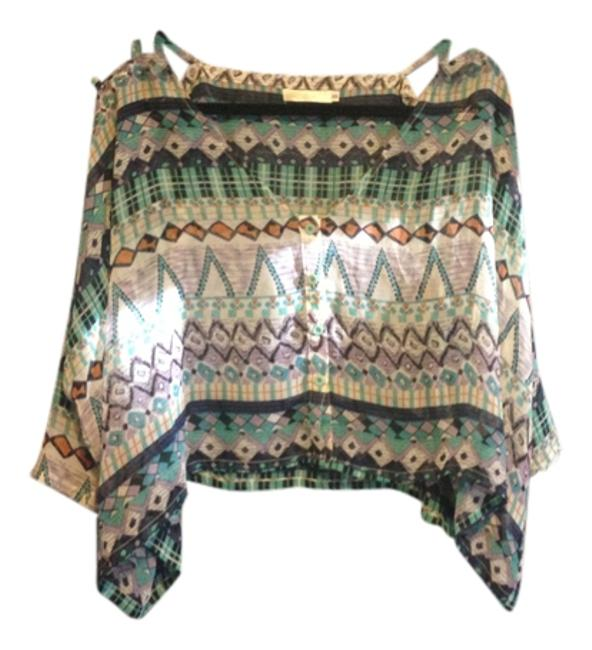 Item - Multi Green and Blue Blouse Size 0 (XS)