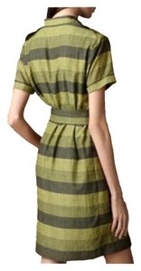 Burberry short dress Green Striped on Tradesy