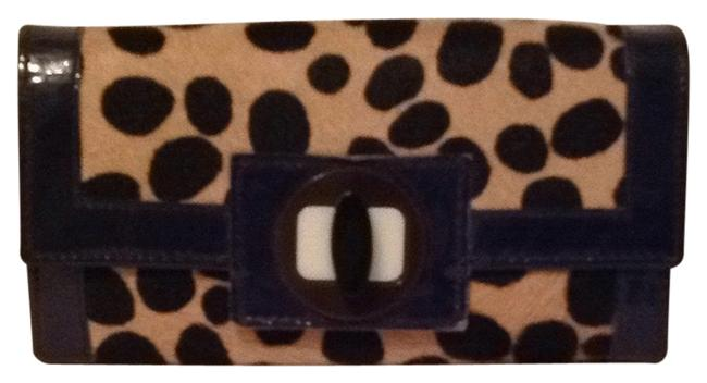 Item - Cheetah with Blue Patent Trim Wallet