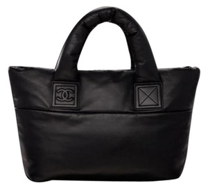 Chanel Reversible Cocoon Black Tote in Black/Red