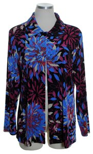 Chico's Stretch Knit One-button Purple Multi Jacket