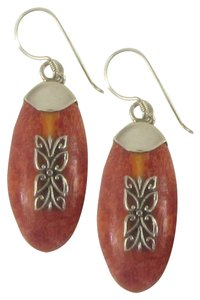 Island Silversmith Island Silversmith .925 Silver Butterfly Design Red Coral Earrings 0601I *FREE SHIPPING*