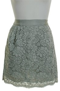 J.Crew Scalloped Hem Mini Skirt Gray