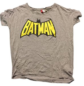 H&M Batman Edgy Cute Trendy Comfortable Top Gray