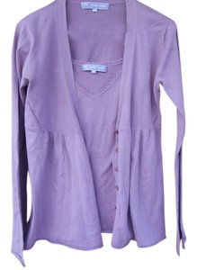Autre Chose Button Down Shirt Lavender