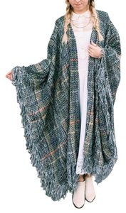 Vintage Knits Poncho Knit Multicolored Cape