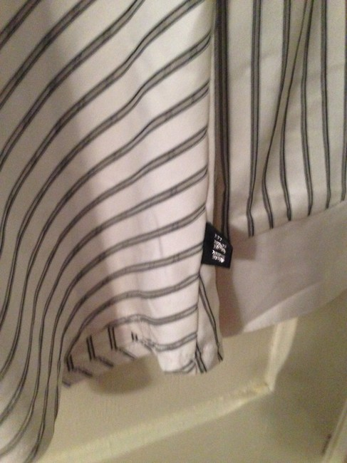 HKR Collections Montreal Retailer Hkr-c Button Down Shirt White Gray Pinstripe
