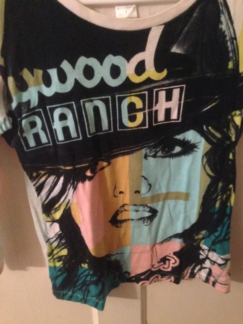 Frederick's of Hollywood Graphic Colour T Shirt Multicoloured Graphic