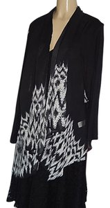 Sunny Leigh New W/Tags Black/White Long Sleeves Cardigan