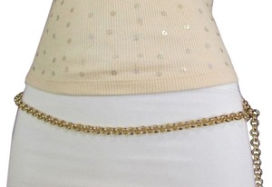 Women Classic Metal Chains Fashion Belt Hip High Waist Gold