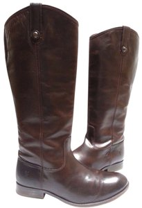 Frye Stytle No. 77167 Vintage Leather Dark Brown Boots