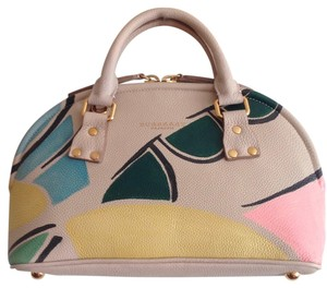 Burberry Prorsum Bloomsbury Had Painted Leather Satchel in Beige