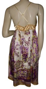 Miss Me short dress purple, gold on Tradesy