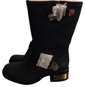 Vince Camuto Black ; silk goat Boots