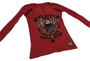 Affliction T Shirt Red & Black