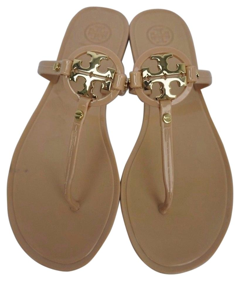 687c6402fe66bc Tory Burch Nude Mini Miller Jelly Thong Flip Flop Sandals Size US 7 ...