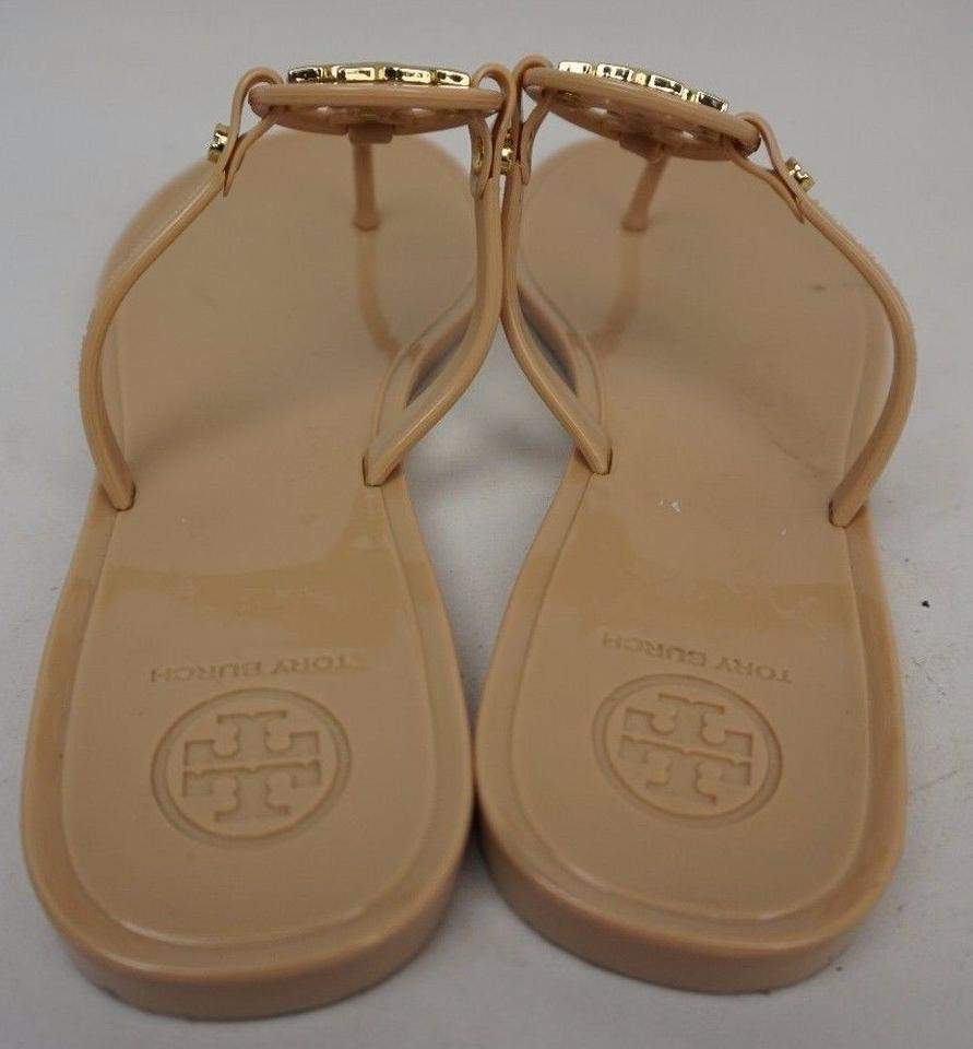 49089fcabe82 Tory Burch Nude Mini Miller Jelly Thong Flip Flop Sandals Size US 7 ...