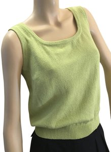 St. John Grass Knit Top Green
