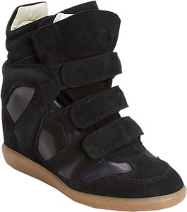 Isabel Marant Wedge Suede Black Athletic