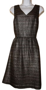 Anthropologie short dress Black Multi Day To Evening V-neck Sleeveless Fully Lined Lace Trim on Tradesy