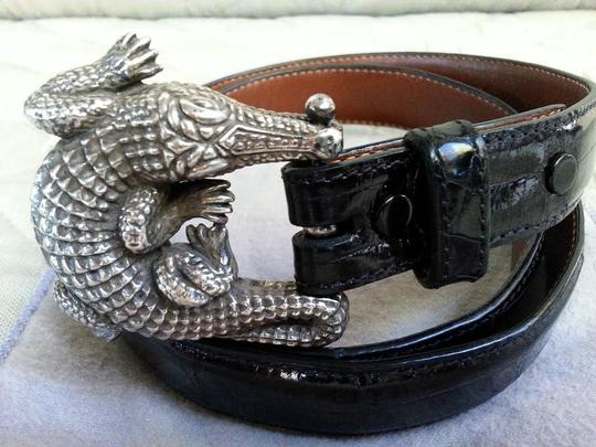 Barry Kieselstein-Cord Barry Kieselstein-Cord Alligator Belt Buckle with Genuine Alligator Strap Solid Silver .925