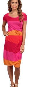 Pink/orange Maxi Dress by BCBGMAXAZRIA