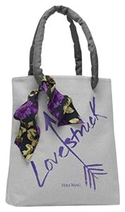 Vera Wang Loverstruck Tote With Ribbon Grey + Purple Beach Bag