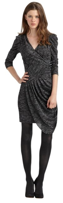 Item - Gray Vinnie Ruched Draped Sheath Knit Mid-length Cocktail Dress Size 2 (XS)
