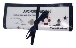 Brighton Brighton Anchors Aweigh Seaside Chic Travel Jewelry Roll Case NWT