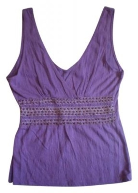 Preload https://img-static.tradesy.com/item/142623/lei-purple-with-wood-beading-blouse-size-8-m-0-0-650-650.jpg
