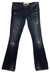 Abercrombie & Fitch Distressed Boot Cut Jeans-Distressed