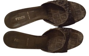 Fendi Black with beads Sandals