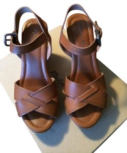 Madewell Wylie Wedge Strappy Tan Wedges