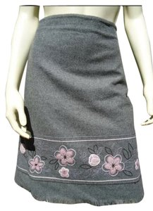 Ann Taylor LOFT Skirt Gray Heather