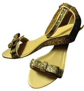 J.Crew Glitter Wedding Gold Wedges