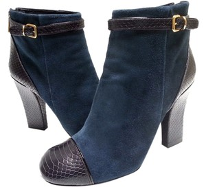 Tory Burch Suede Navy/Black Boots