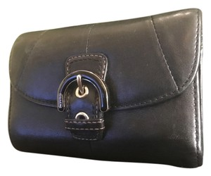Coach Coach Leather Coin and Card Slot Wallet