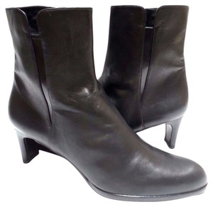 Stuart Weitzman Leather Ankle Black Boots