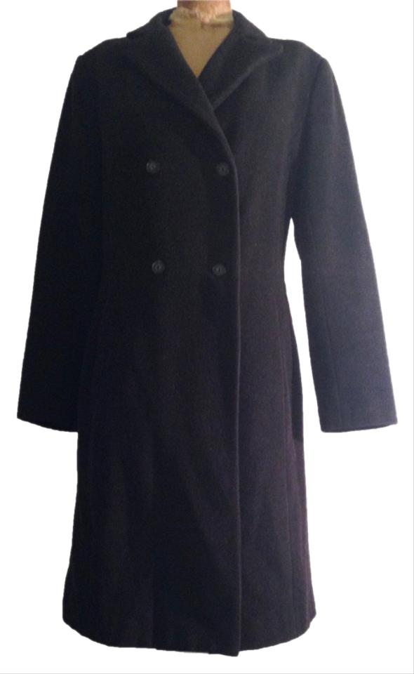 ed3fc4e0 Zara Gray Double-breasted Wool/Cashmere Blend Coat Size 8 (M) - Tradesy