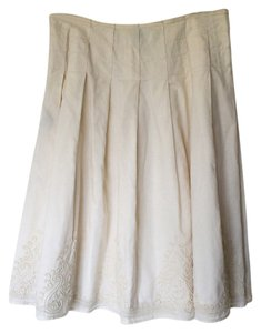 DKNY Midi Skirt Light Cream