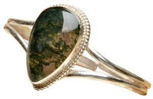 Other MOSS AGATE GEMSTONE CUFF BRACELET