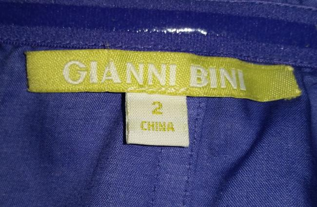 Gianni Bini short dress Blue Cotton Violet Embroidered on Tradesy