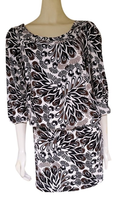BCBGMAXAZRIA short dress Black & White Drop Waist Bouson Jersey Stretch on Tradesy