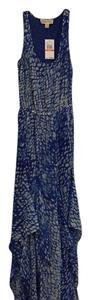 Blue with metallic shimmer Maxi Dress by MICHAEL Michael Kors