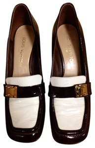 Louis Vuitton Brown and White Flats
