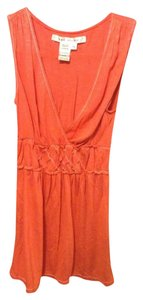 Max Studio Empire Waist Sleeveless Top Orange
